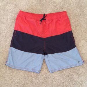 Vineyard Vines Swim Trunks XL 2 Pockets